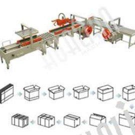 Автоматическая линия для заклейки и обвязки коробки серии XFK-3