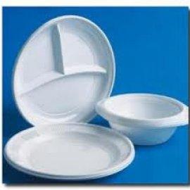 Одноразовые тарелки пластиковые