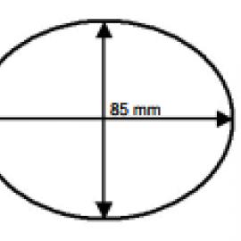 Этикетка  n=64000 2 ручья 85*66 mm L 100 mm n=14000
