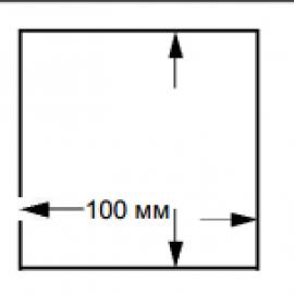 Этикетка 100*100L=115mm n=9600