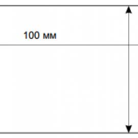 Этикетка 100*70L=85 mm n=96001 ручей