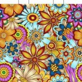 Пакеты с петлевой ручкой 28*35 с цветами
