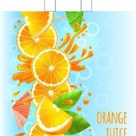 Пакеты с петлевой ручкой 38*42+6 Апелсины
