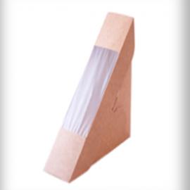 Одноразовая картонная упаковка для сендвичей 50