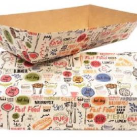 Упаковка для FAST FOOD с печатью «Enjoy»