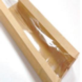 Крафт пакет с продольным окном 120*80*250
